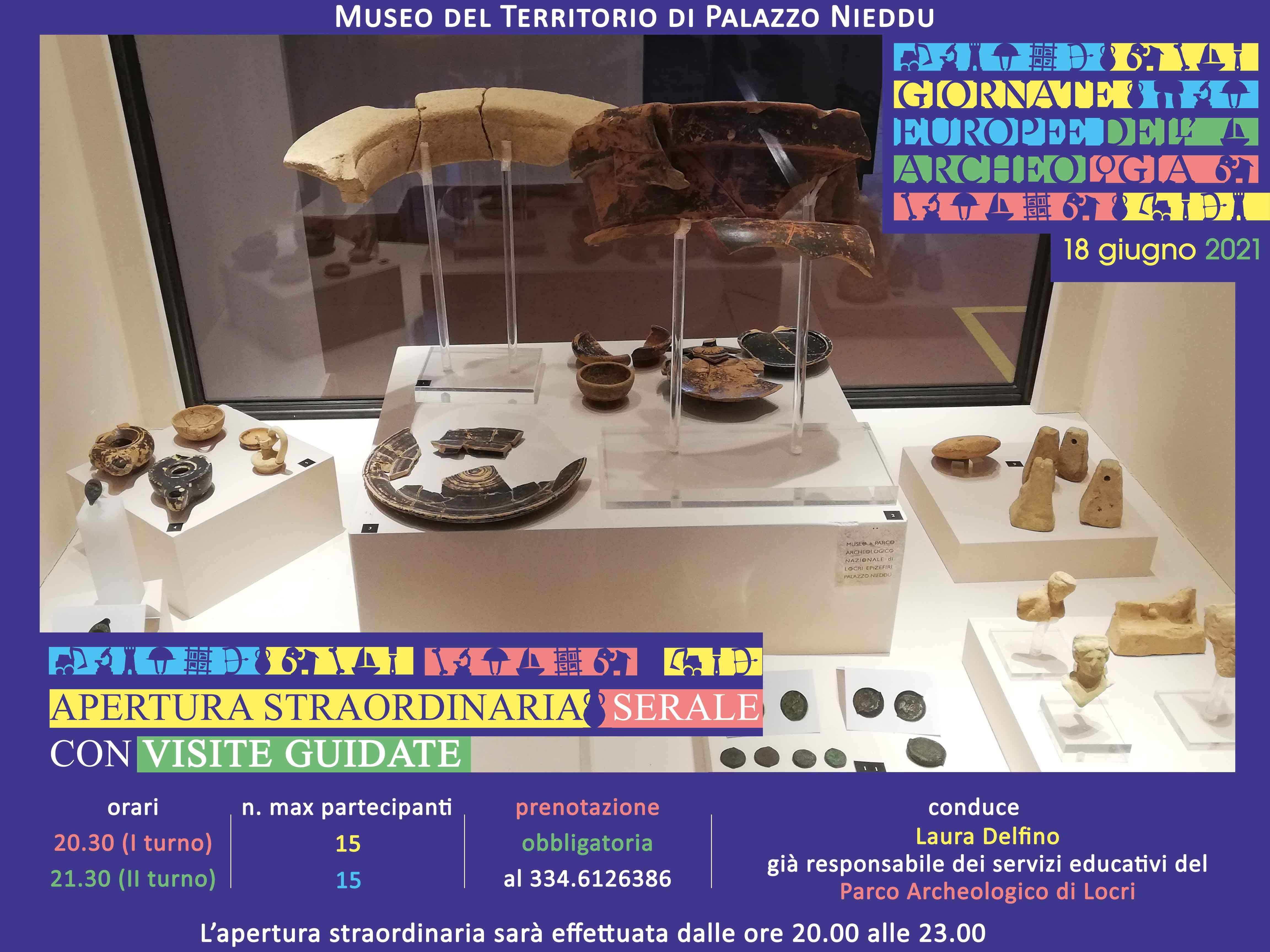 Giornate europee dell'archeologia 2021 - Apertura serale straordinaria con visite guidate al Museo di Palazzo Nieddu