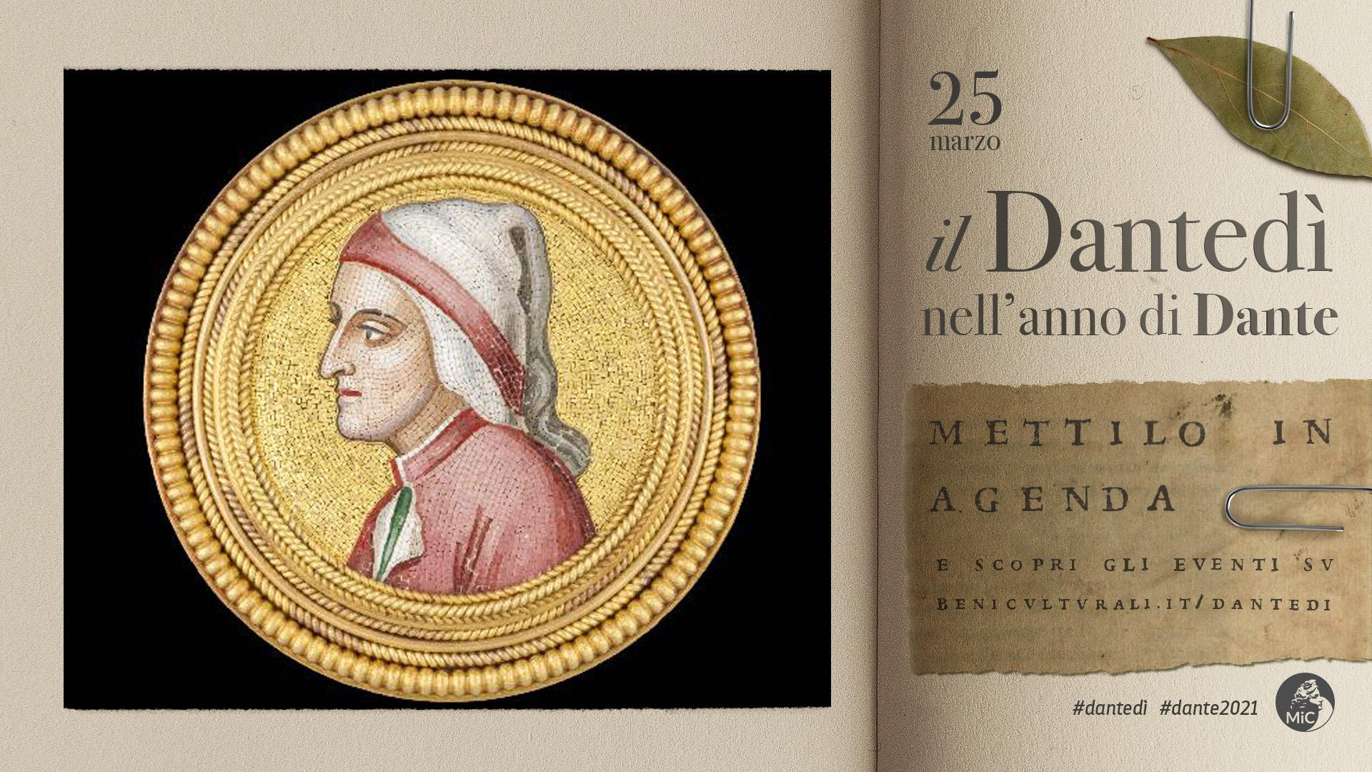ETRU per il Dantedì 2021: La spilla con il ritratto di Dante