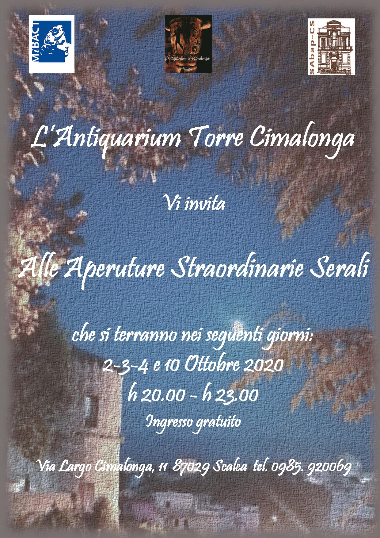 Le serate all' Antiquarium