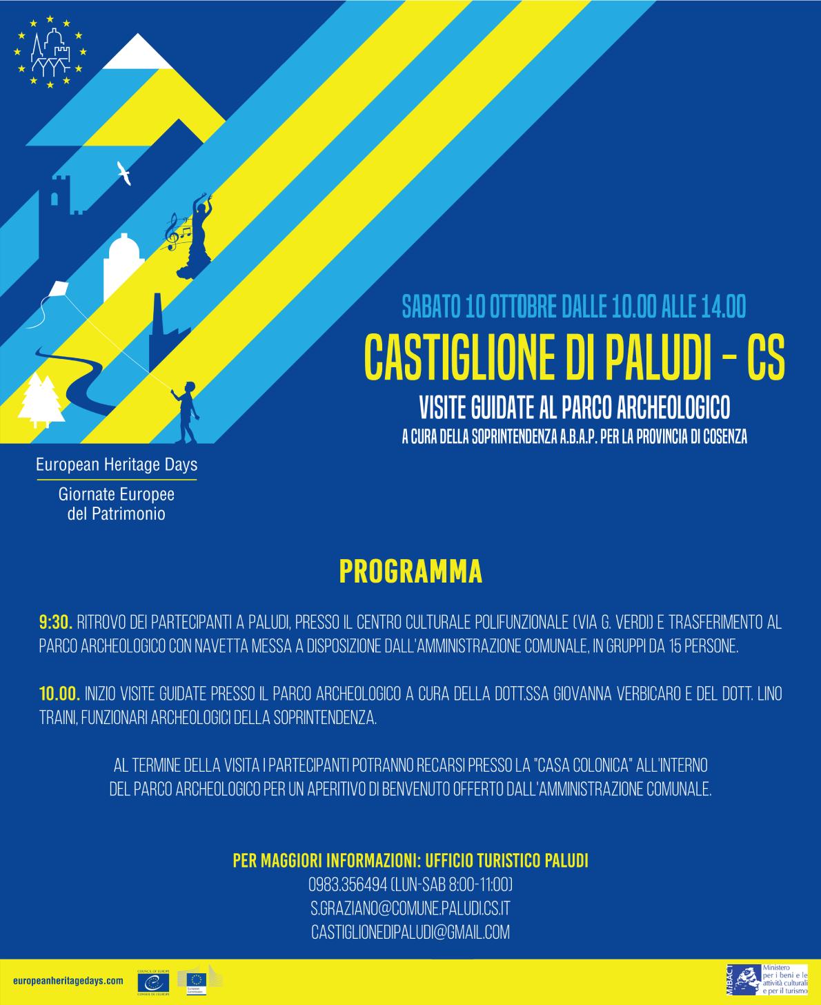 GEP-2020 - Parco Archeologico Castiglione di Paludi - Visite Guidate