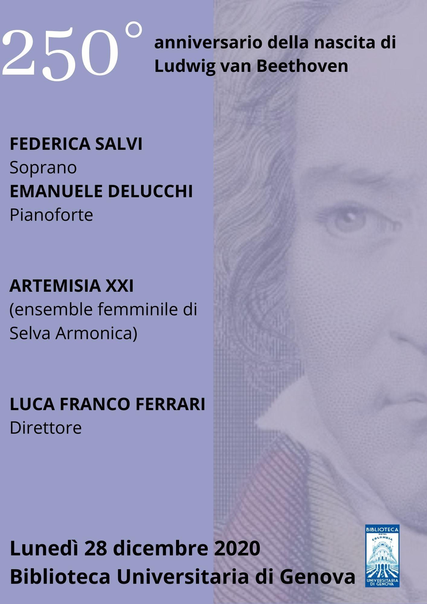 250° anniversario della nascita di Ludwig van Beethoven- concerto