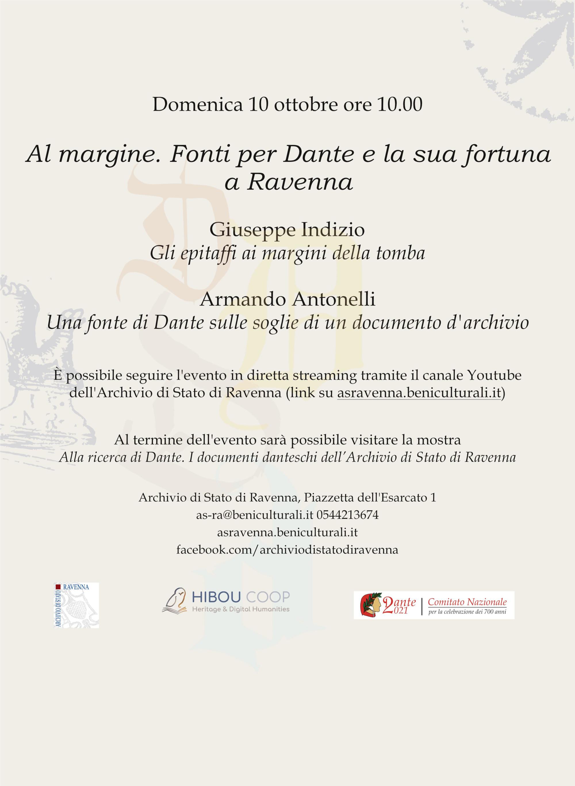 Al margine. Fonti per Dante e la sua fortuna a Ravenna