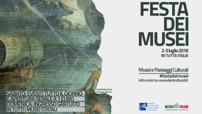 cover FESTA DEI MUSEI | SABATO 2 LUGLIO APERTURA SERALE A 1 EURO