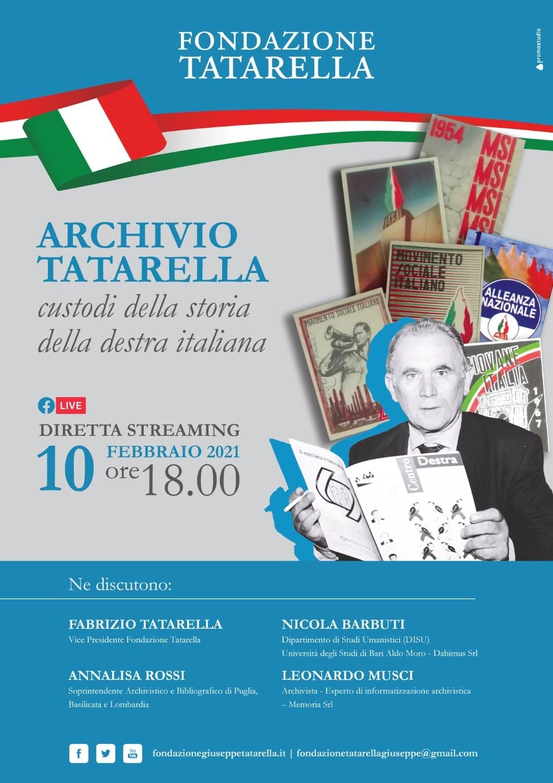 Archivio Tatarella : ordinamento, catalogazione e digitalizzazione